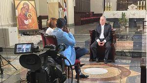 Monseñor Bretón entrevistado por Alex Santiago y Liz Reyes para Certv.
