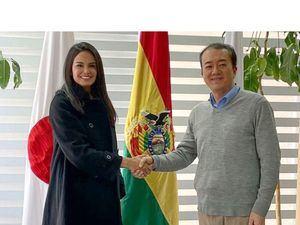 Judith Cury, presidenta de Prosperanza y Ohara Manabu representante residencial de JICA Bolivia.