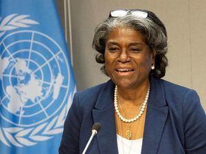 La embajadora estadounidense ante la ONU, Linda Thomas-Greenfield.