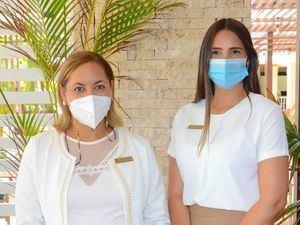Mercedes Moreno y Dianellys Nuñez.
