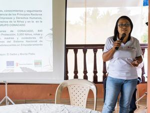 Annetty Matos coordinadora Produciendo Cacao con enfoque de derechos.
