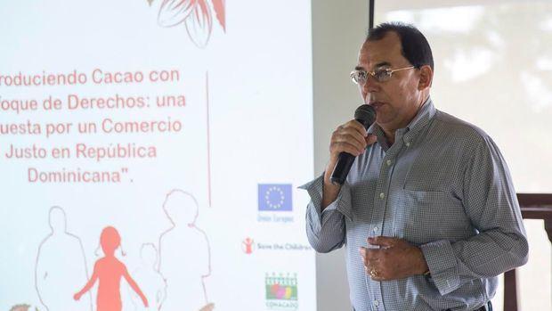 Bernardo Jiménez, gerente regional de la Confederación Regional cacaocultores Dominicanos, CONACADO.