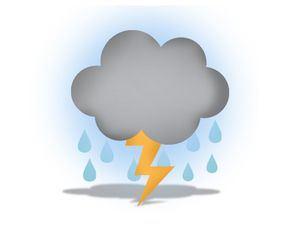 Aguaceros con tormentas eléctricas sobre varias regiones por vaguada
