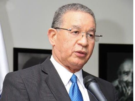Rafael Peral Romero, director de la Biblioteca Nacional Pedro Henríquez Ureña; Wilson Gómez Ramírez, ex-director nacional de Registro de Títulos, y Jorge A. Subero Isa, ex-presidente la Suprema Corte Justicia.