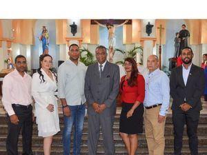 El presidente de ADEIA, Pablo Taveras, junto a los miembros de la directiva.
