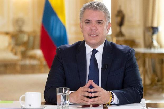 Fotografía cedida por la Presidencia de Colombia que muestra al presidente colombiano, Iván Duque.