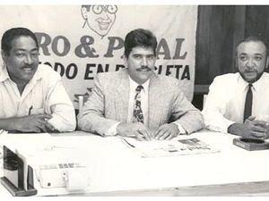 Juan Luis Rodriguez con J. Eduardo Martínez y Jochi Santos.