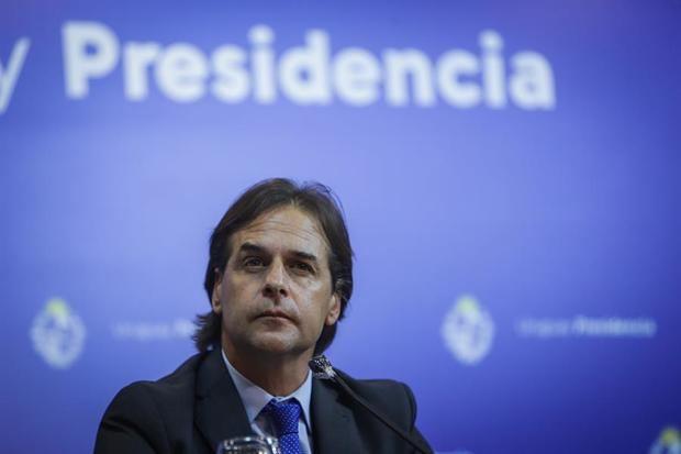 En la imagen, el presidente de Uruguay, Luis Lacalle Pou.