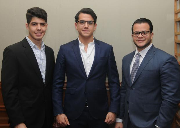 Armando Sánchez, Enrique Hernández y Anmer Rodríguez.