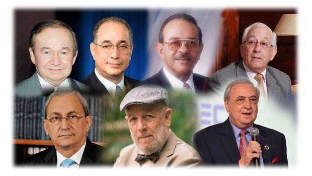 Ellis Pérez, Luis Felipe Aquino, Ramón A. Blanco Fernández, Luis Scheker, Jorge Subero Isa Freddy Ginebra y Luis A. Sánchez Noble.