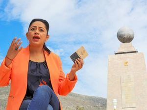 La prefecta de Pichincha, Paola Pabón, habla en entrevista con Efe, el 14 de julio de 2021, en la Ciudad Mitad del Mundo, Quito.