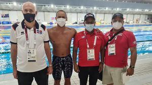 Acosta y García resaltan actuación del nadador Josué Domínguez.