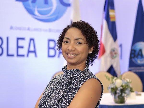 La presidenta de BASC Dominicana, July de la Cruz.