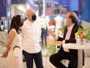Rocío Sánchez, Alberto Alonso y Edgardo Canahuati.