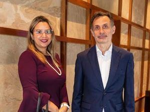 Carla Cedeño y Alberto Labadía.