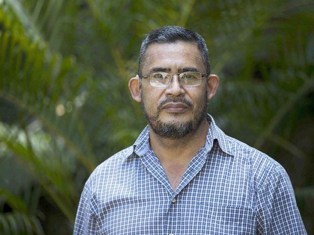 En la imagen, el miembro de la Organización de Víctimas de Abril (OVA), Rodrigo Navarrete.