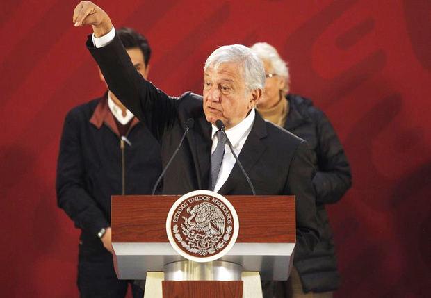 El presidente de México, Andrés Manuel López Obrador, habla durante su conferencia de prensa en Ciudad de México, México.