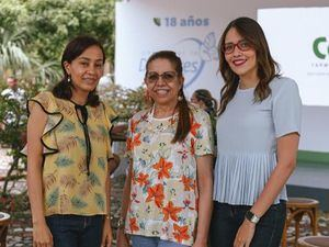 Ligia Reyes, Aracelis Jiménez y Nicole Miranda.