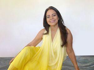 La artista visual, Cruz María Dotel.
