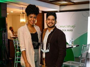 Lisbeth Suero y Carlos Veitia.