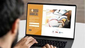 Fotomontaje del portal web https://economianaranja.com.do