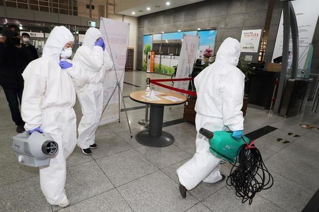 Corea del Sur registra 367 casos más de coronavirus, que superan ya los 7.000