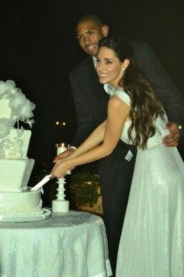 Amelia Vega y Al Horford en su boda.