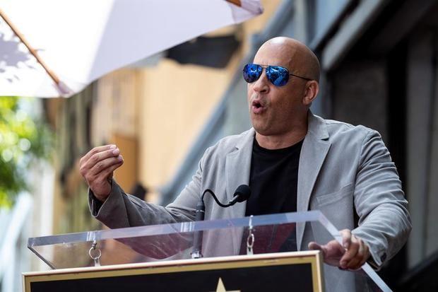 En la imagen un regitro del actor estadounidense Vin Diesel.