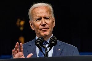 El presidente de Estados Unidos, Joe Biden, fue registrado este miércoles, durante una intervención pública, en Washington DC (EE.UU.), donde anunció un plan para trabajar con iglesias, colegios y negocios para aumentar la vacunación contra la covid-19 en su país.