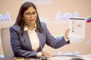 La vicepresidenta de Venezuela, Delcy Rodríguez. Foto de archivo.