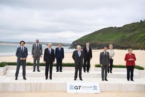 Los líderes del G7 en la cumbre de Cornualles, Reino Unido.