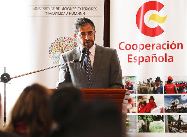 En la imagen el el nuevo canciller, Mauricio Montalvo.