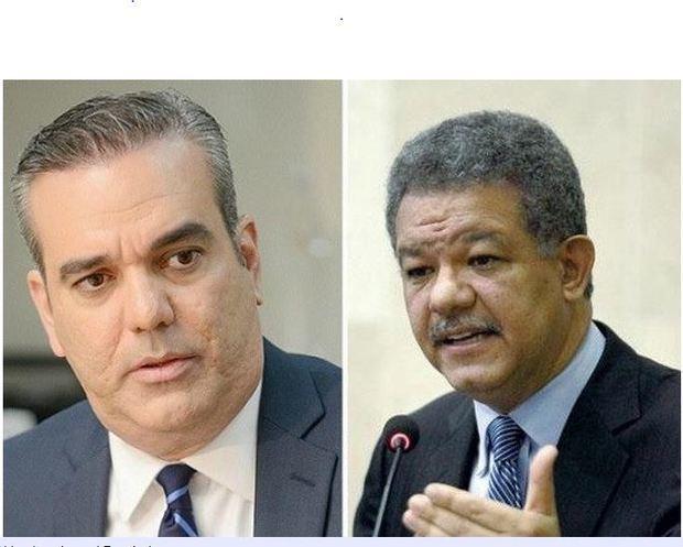 Luis Abinader y Leonel Fernandez, candidatos a las elecciones primarias.