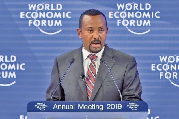 Primer ministro etíope, Abiy Ahmed, tras ganar el Premio Nobel de la Paz por sus esfuerzos 'para resolver el conflicto fronterizo con la vecina Eritrea'.
