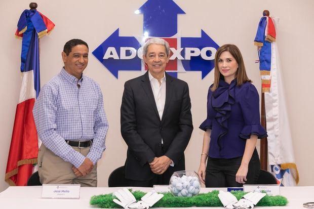 Jochy Mella, director de ADOEXPO; Luis Concepción, presidente y Odile Miniño Bogaert, vicepresidenta ejecutiva.