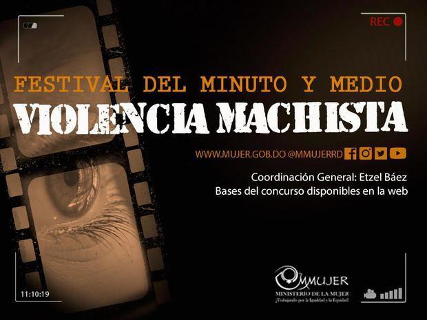 Afiche Festival del minuto y medio Violencia Machista