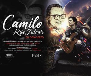 Cartel promocional del concierto homenaje al maestro Bullumba Landestoy, a efectuarse el 4 de octubre en el Bar del Teatro Nacional.