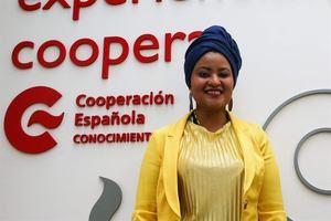 La militante feminista colombiana Ashanti Dinah, durante una entrevista con Efe concedida el pasado día 3 de julio en el marco del II encuentro de 'Experiencias latinoamericanas: Afropolíticas' que se llevó a cabo en la Cooperación Española de Montevideo.