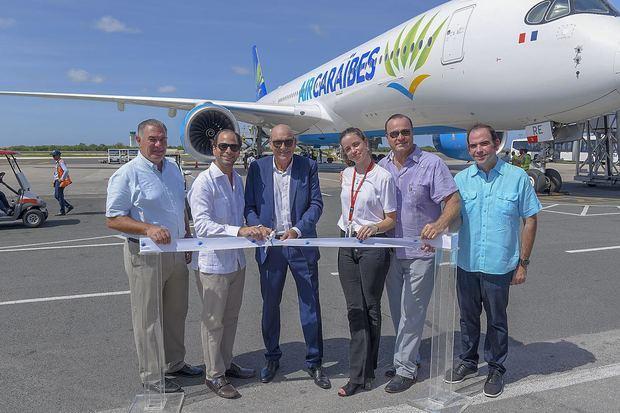 Inauguración del nuevo avión Airbus A350-900 a Punta Cana, ofreciendo una nueva experiencia de viaje a sus pasajeros en la ruta Punta Cana -Francia.