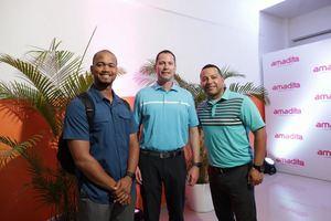 Arnaldo Gómez, Jd Matheus y Luis Peral.