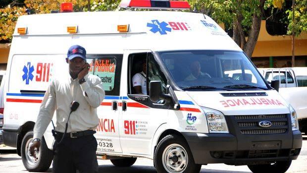 Ambulancia donde ocurrió el atraco.
