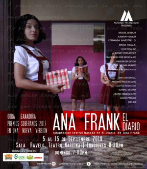 """El mundialmente famoso Diario de Ana Frank es llevado a la escena en una nueva adaptación para el teatro, de los productores de la puesta en escena ganadora de los """"Premios Soberano"""" a la mejor obra del año y mejor actor 2016"""
