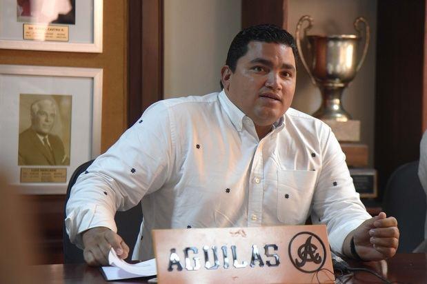 Gerente general del equipo Águilas Cibaeñas Ángel Ovalles.