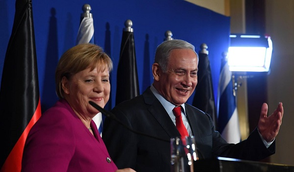 Angela Merkel y Benjamín Netanyahu