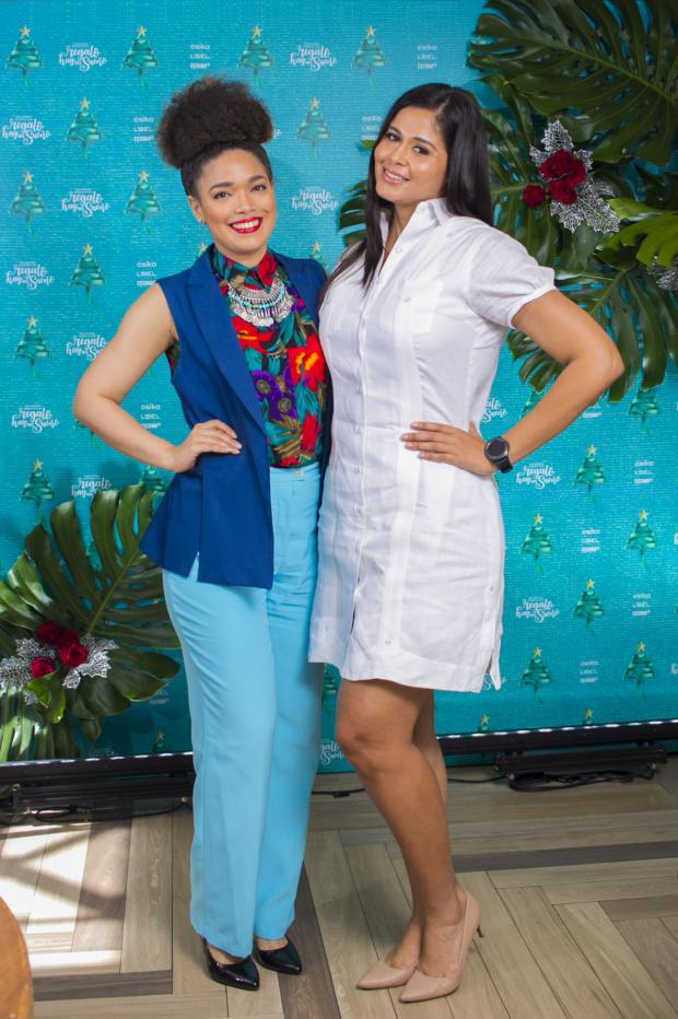 Annel Cardenes y Driva Cedeño.