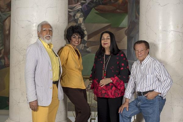 Antonio guadalupe, Elsa Núñez, Rosa Tavárez y José Perdomo