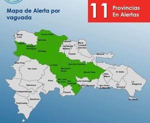 El COE mantiene la alerta verde por lluvias en once provincias