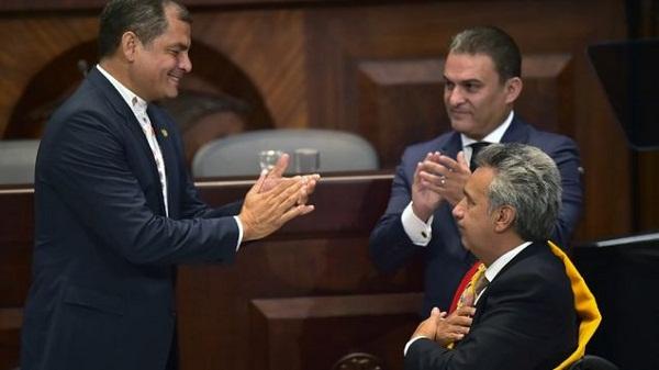 Arrecian críticas en Gobierno de Ecuador por declaraciones de Correa a Moreno