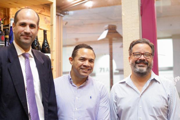 Atilio de Frias, Mayobanex Castillo y Alex Guzman