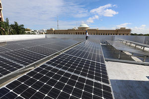 En la actualidad, hay 11,195 paneles solares instalados en esta red de oficinas fotovoltaicas del Banco Popular.